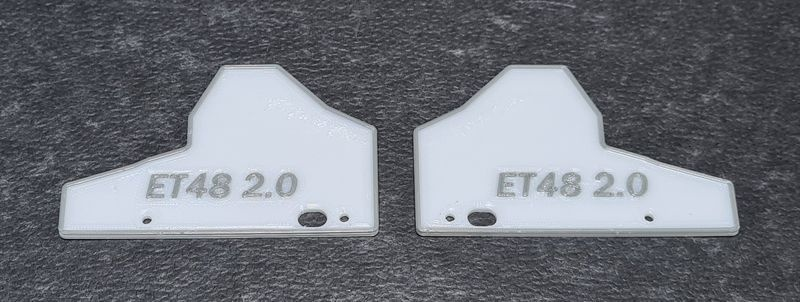 JS-Parts Mudguards ultraflex für Tekno ET48 2.0 weiß/grau