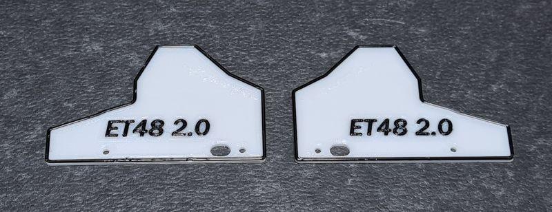 JS-Parts Mudguards ultraflex für Tekno ET48 2.0 weiß/schwarz