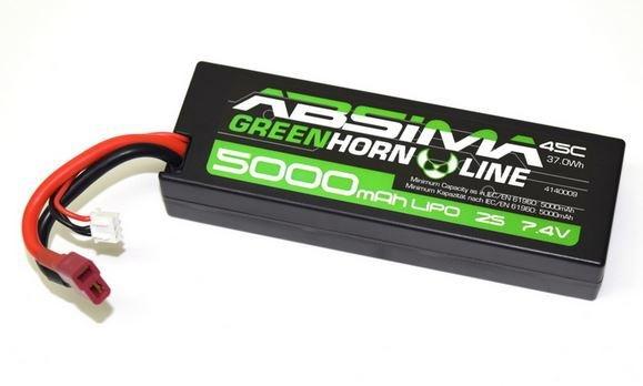 Absima LiPo Stick Pack 7.4V-50C 5000 Hardcase V2 (T-Plug)