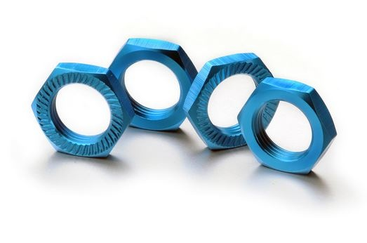 Absima Alu Radmutter selbstsichernd 17mm blau, 4 Stück
