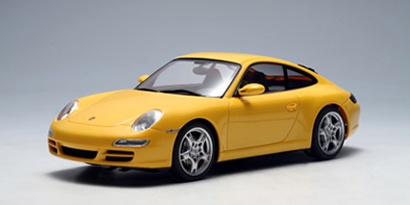 AutoArt 1:24 Porsche 911 (997) Carrera S gelb