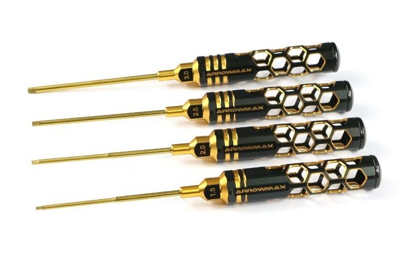 Arrowmax Allen Wrench Set 1.5, 2.0, 2.5 & 3.0 X 100mm -