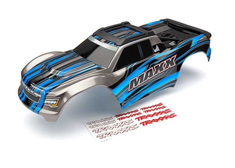 Traxxas Karo Maxx blau lackiert + Decal Sheet