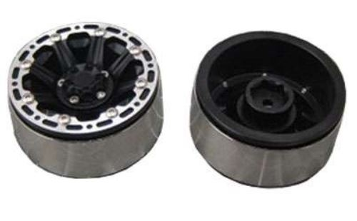 Amewi 48.2mm CNC Felgen, Alu D90 schwarz 8-Speichen-Design,