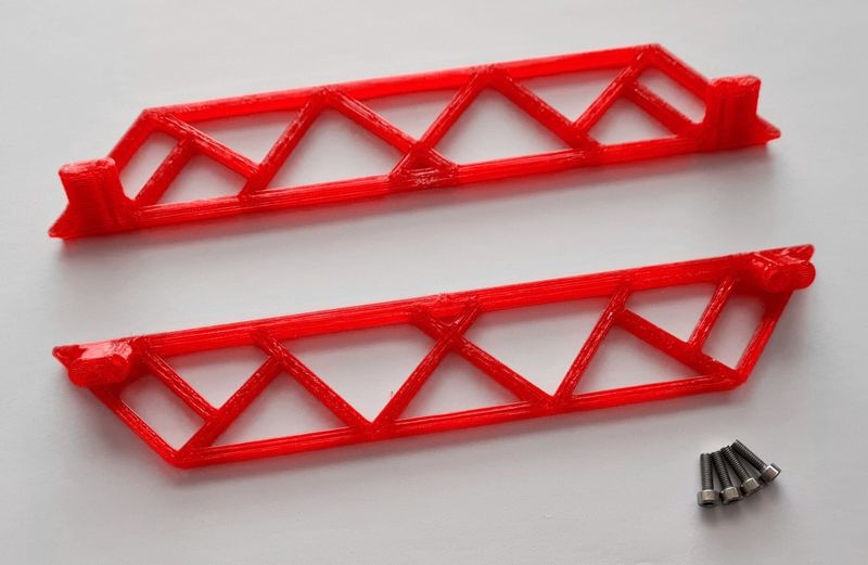 JS-Parts ultraflex Sidebar für Traxxas X-Maxx rot