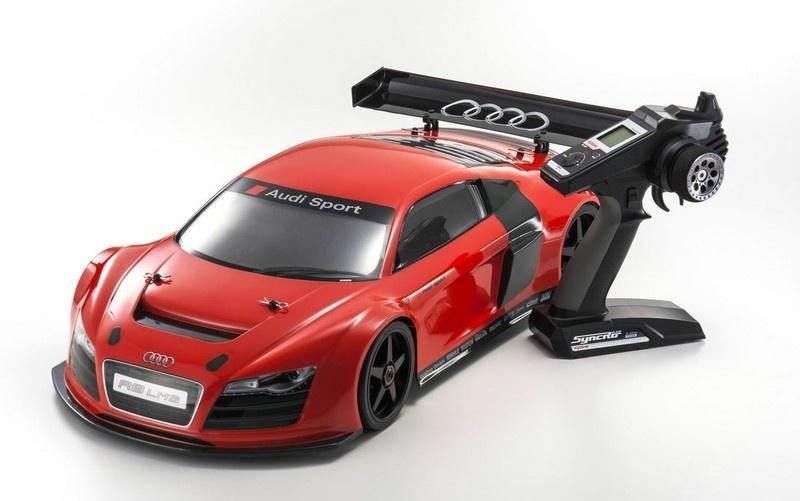 Kyosho Inferno GT2 VE Race Specs Audi R8 LMS rot RTR 1:8