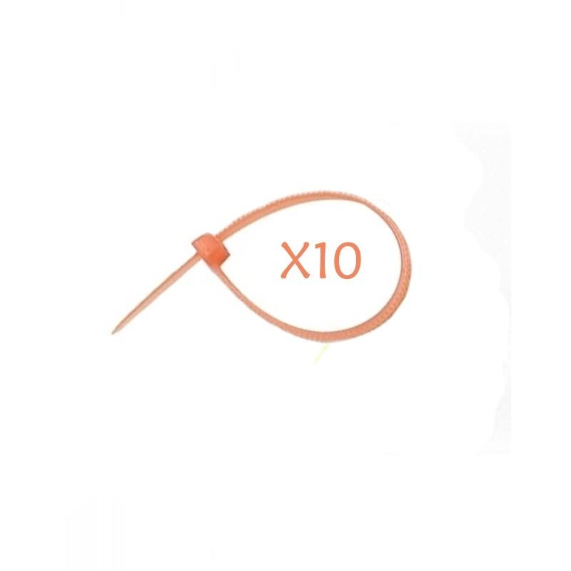 Flexytub Kabelbinder 3mmx100mm Orange (10 Stück)