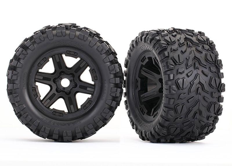 Traxxas Reifen auf Felge schwarz montiert (Talon EXT 3.8)