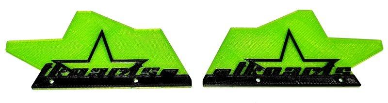 JS-Parts ultraflex Mudguards grün für Tekno MT410 2-farbig