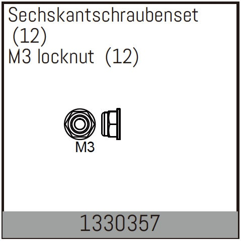 Absima M3-Sicherungsmutter (12)