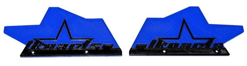 JS-Parts ultraflex Mudguards blau für Tekno MT410 2-farbig