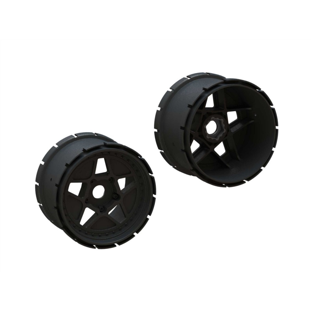 Arrma MT Wheel 4.9in 24mm Hex (1pr) (ARA510123)