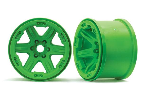 Traxxas Felge 3.8 grün (2) 17mm Aufnahme