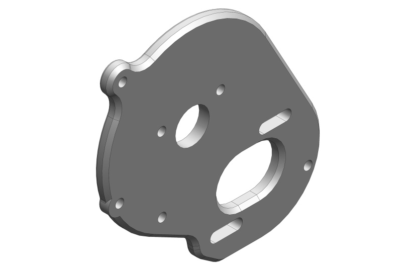 Team Corally Motor Mount Plate - Aluminium