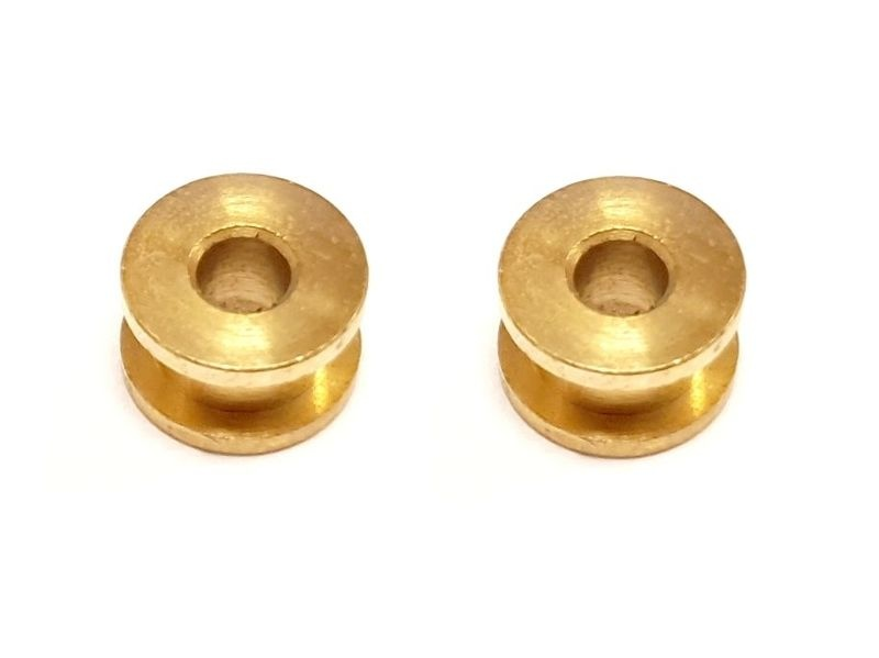 AutoArt 2x Achslager aus Bronze 4,9mm für Achse 2,38mm