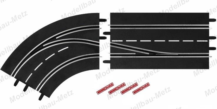 Carrera Digital 124/132 Spurwechselkurve links - Innen nach