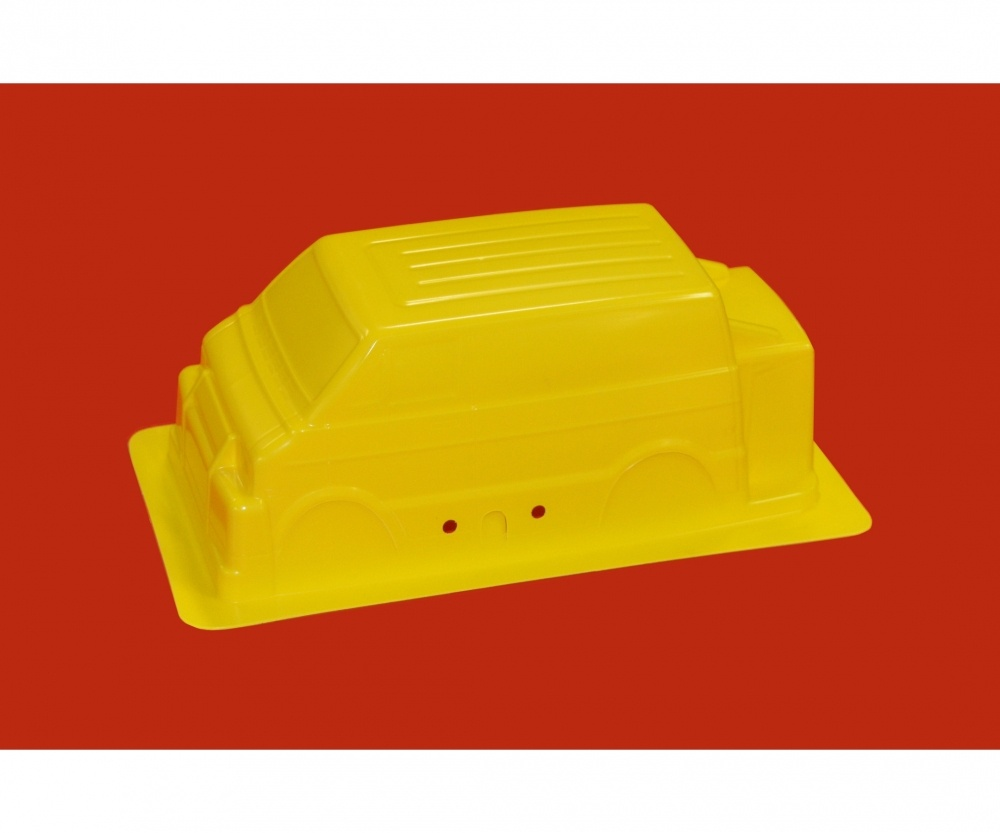 Tamiya Karosserie Lunch Box Mini Gelb 57409