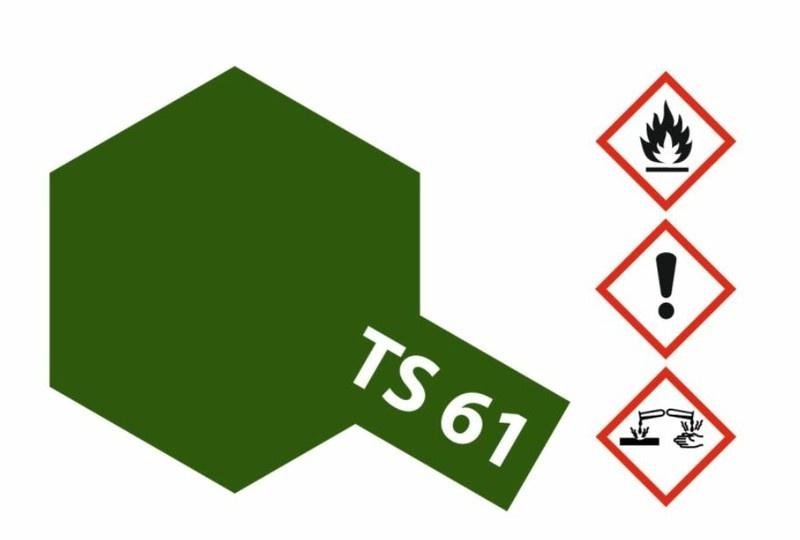 Tamiya Acryl-Sprühfarbe TS-61 NATO Grün matt 100ml