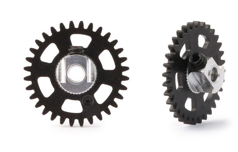 NSR SW 3/32 Plastic Gear/Zahnrad 32T w/alu hub BLACK
