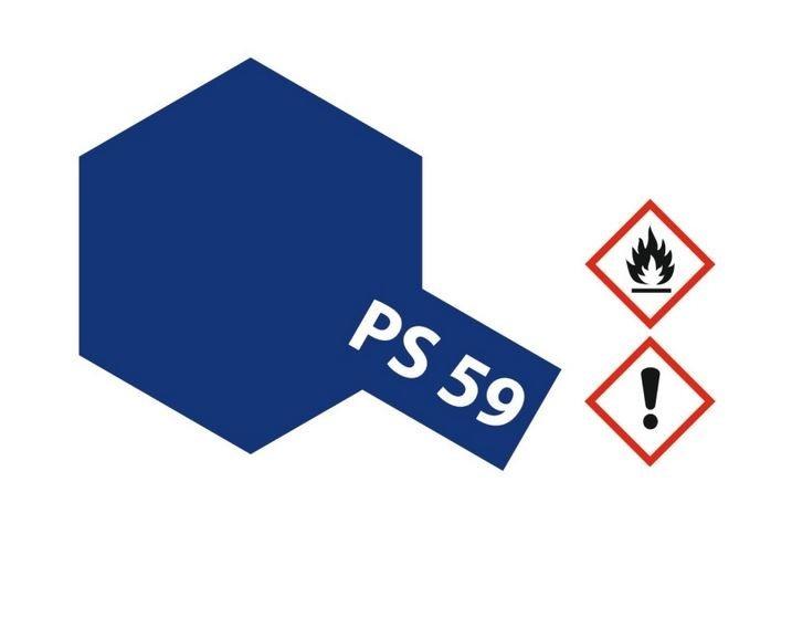 Tamiya Lexanlack PS 59 dunkelmetallic blau