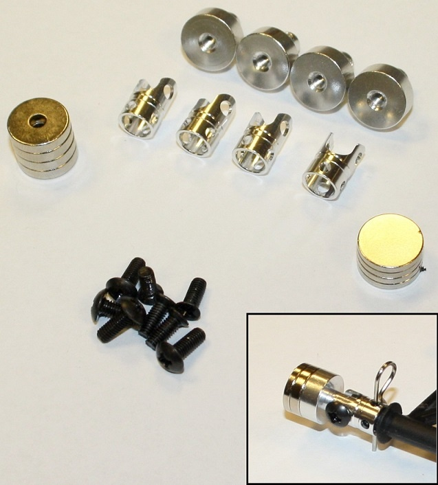 Monstertronic N0078 Magnet-Karosseriehalterung silber, 1:10