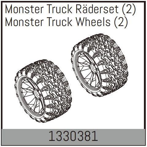 Absima Monster Truck Räderset (2)