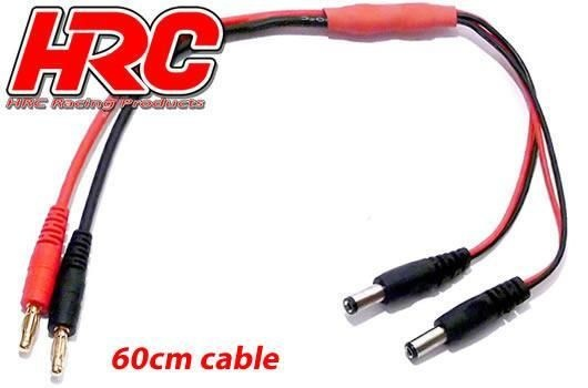 HRC Racing Ladekabel - 4mm Bullet zu Futaba / Hitec Sender
