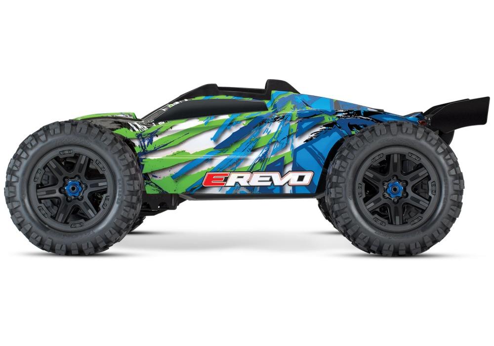Traxxas E-Revo VXL 4WD Elektro Monster Truck BL blau/grün