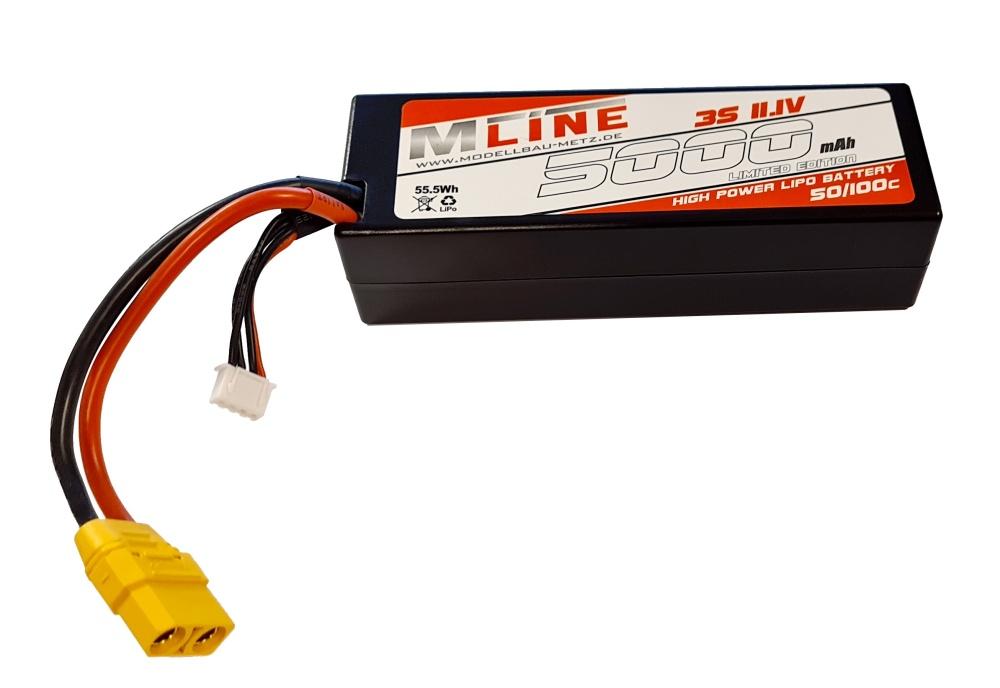 MLine High Power LiPo Akku 50/100C 3S 11,1V 5000mAh XT90