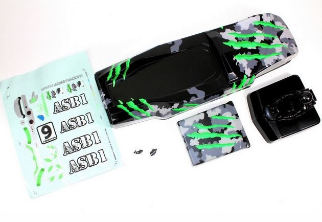 Absima Karosserie camouflage/grün Sand Buggy 1:10