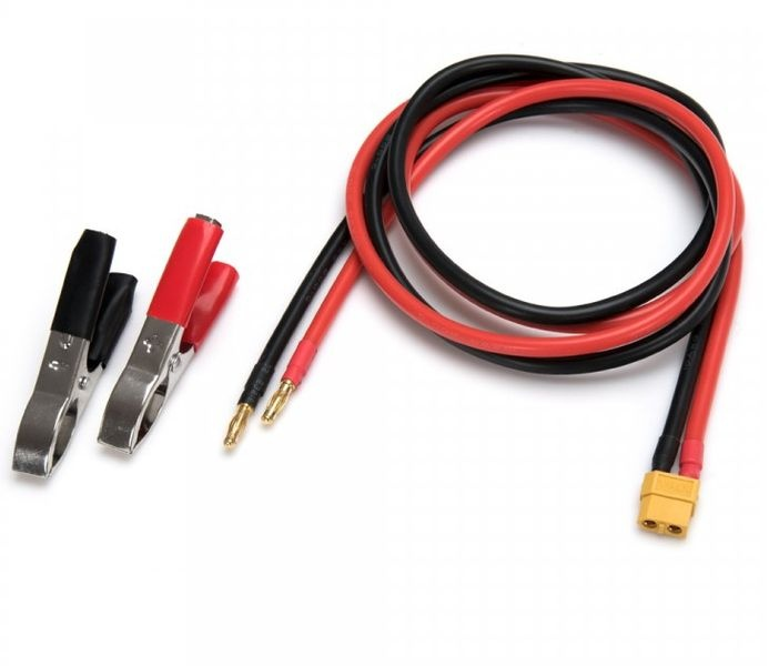 D-MAX XT60 IDST DC Input Leads with Battery Clips & 4mm 1m
