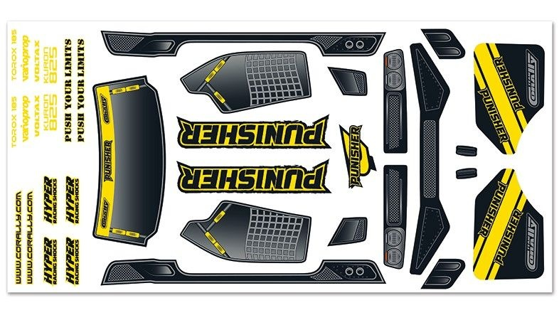 Team Corally Body Decal Sheet - Punisher XP - 1 pc