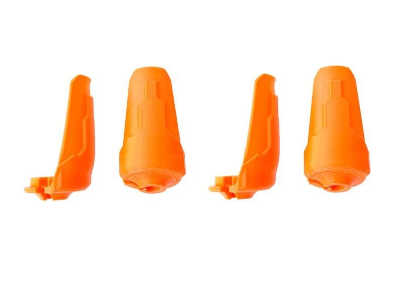 JS-Parts Kolbenschützer für Traxxas X-Maxx orange