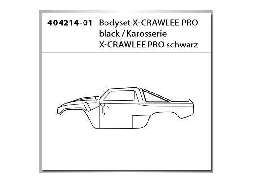 Carson RC Karosserie X-CRAWLEE PRO schwarz