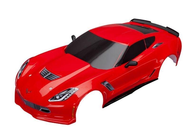 Traxxas Karo Chevrolet Corvette Z06 rot