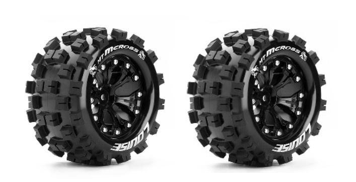 Louise RC MT-MCROSS MonsterTruck Reifen 1:10-Fertig Verklebt