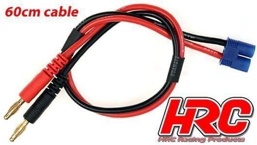 HRC Racing Ladekabel - 4mm Bullet zu EC3 Stecker