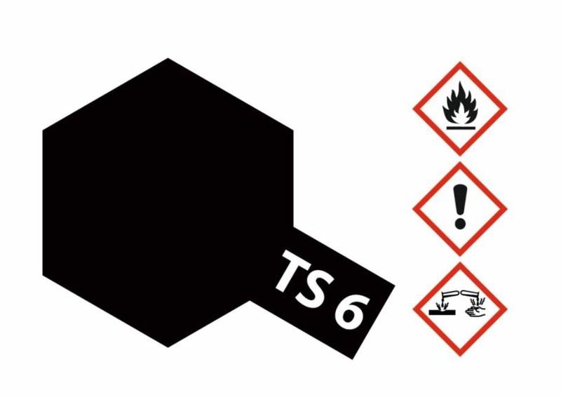 Tamiya Acryl-Sprühfarbe TS-6 Schwarz matt 100ml