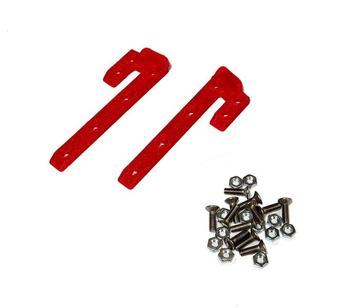 JS-Parts ultraflex Dachskid 70x20mm für 1/8 rot