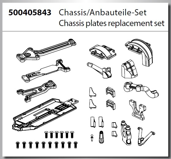 Carson 1:8 Beat Warrior Buggy DMAX Chassis / Anbauteile Set