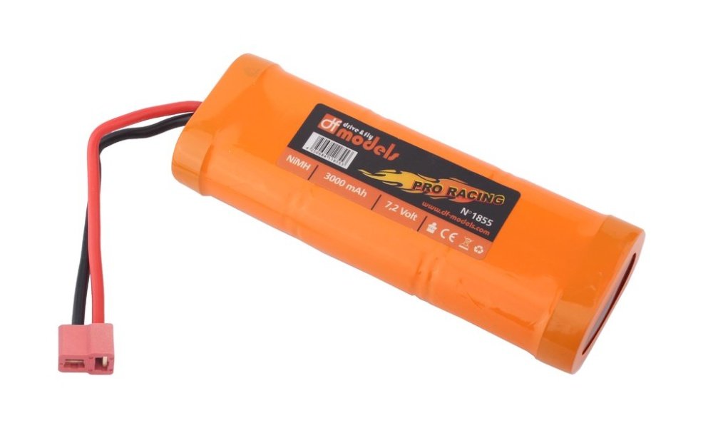 DF-Models Pro Racing Pack 7,2V 3000mAh NiMH - T-Plug
