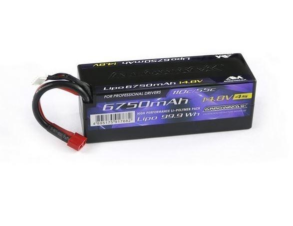 Arrowmax LiPo 6750mAh 4S - 14.8V 55C Continuos 110C Burst