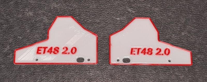 JS-Parts Mudguards ultraflex für Tekno ET48 2.0 weiß/rot