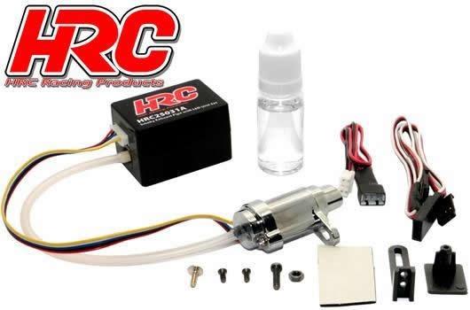 HRC Auspuffanlage mit Dampf (Rauch) und LED Set 1:10