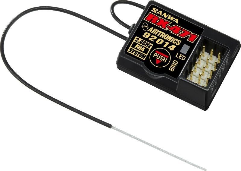Sanwa RX-471 Empfänger SANWA SURFACE CH4 2.4GHz FH4/FH3