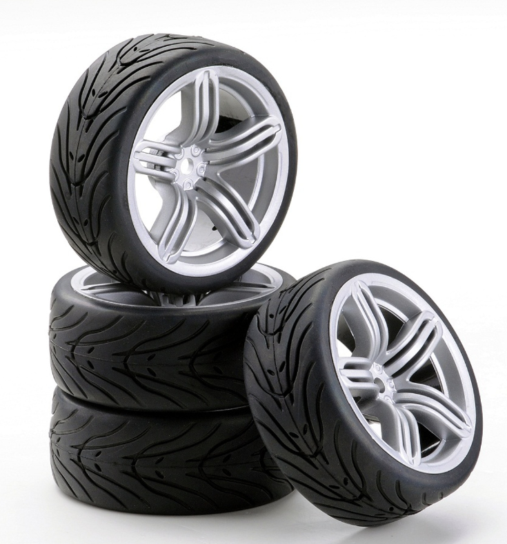 Carson SC-Räder 6S Style silber, 4 Stück