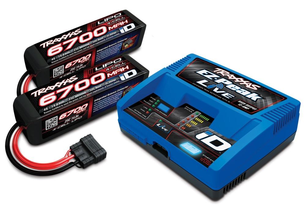 Traxxas LIVE EZ-Peak Plus-Lader 2971GX + 2x 4S Lipo 6700mAh