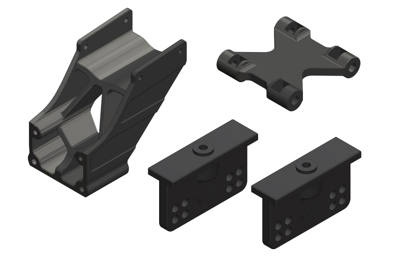 Team Corally Wing Mount - Adjustable - Composite - 1 Set