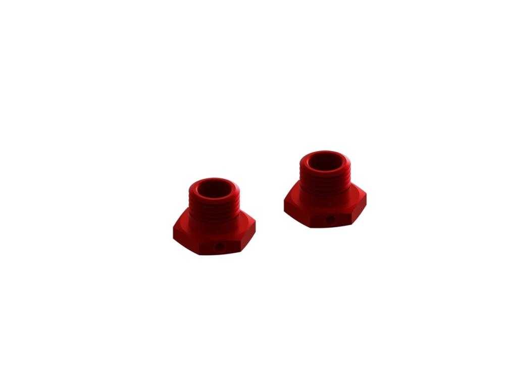 Arrma RC Aluminium Sechskantmitnehmer rot 13,6mm (2)