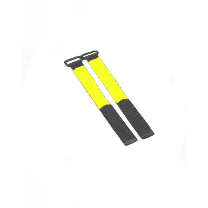 Flexytub Klettband Nylon 27cm x2cm gelb (2 Stück)